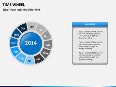 Time wheel PPT slide 7