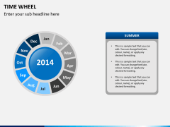 Time wheel PPT slide 8