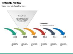 Timeline arrow PPT slide 11