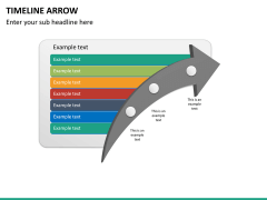 Timeline arrow PPT slide 12