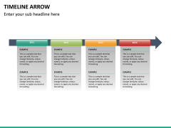 Timeline arrow PPT slide 13