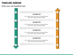Timeline arrow PPT slide 15
