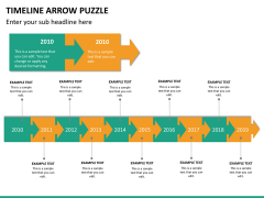 Timeline arrow puzzle PPT slide 10