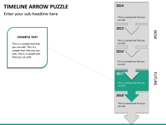 Timeline arrow puzzle PPT slide 14