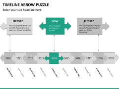 Timeline arrow puzzle PPT slide 15