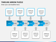 Timeline arrow puzzle PPT slide 3
