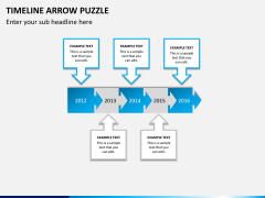 Timeline arrow puzzle PPT slide 4