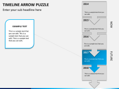 Timeline arrow puzzle PPT slide 6