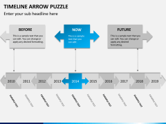 Timeline arrow puzzle PPT slide 7