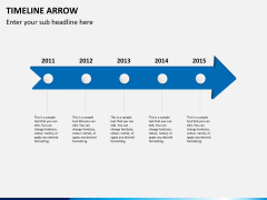 Timeline arrow PPT slide 1