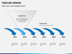 Timeline arrow PPT slide 3