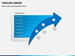 Timeline arrow PPT slide 4