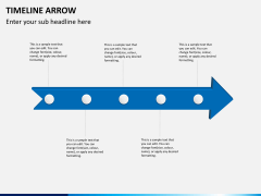 Timeline arrow PPT slide 6
