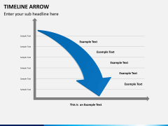 Timeline arrow PPT slide 8