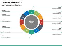 Timeline preloader PPT slide 13