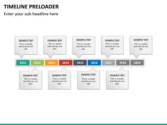 Timeline preloader PPT slide 22