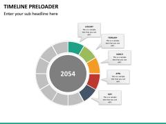 Timeline preloader PPT slide 16