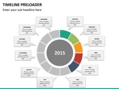 Timeline preloader PPT slide 18