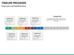 Timeline preloader PPT slide 21