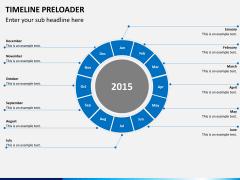 Timeline preloader PPT slide 1