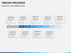 Timeline preloader PPT slide 10
