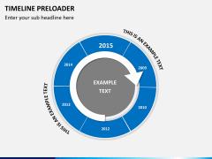 Timeline preloader PPT slide 2