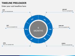 Timeline preloader PPT slide 3