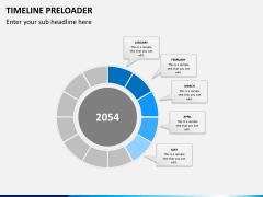 Timeline preloader PPT slide 4