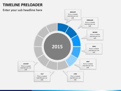 Timeline preloader PPT slide 5