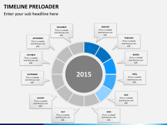 Timeline preloader PPT slide 6