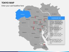 Tokyo map PPT slide 11