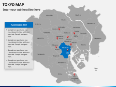 Tokyo map PPT slide 12