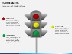 Traffic lights PPT slide 1