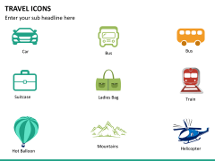 Travel icons PPT slide 6