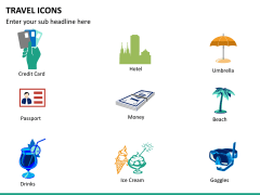 Travel icons PPT slide 7