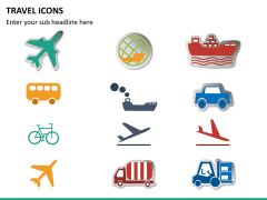 Travel icons PPT slide 8