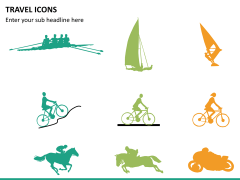 Travel icons PPT slide 9