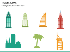 Travel icons PPT slide 10
