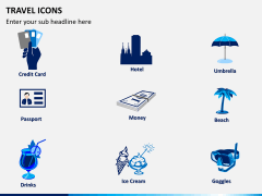 Travel icons PPT slide 2