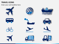 Travel icons PPT slide 3