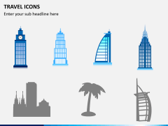 Travel icons PPT slide 5
