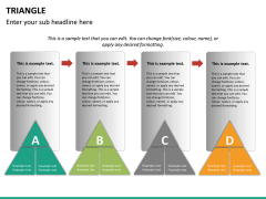 Triangle shape PPT slide 12
