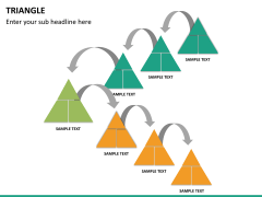 Triangle shape PPT slide 14