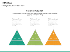 Triangle shape PPT slide 15