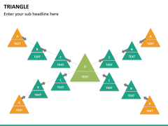 Triangle shape PPT slide 18