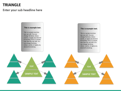 Triangle shape PPT slide 19