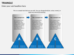 Triangle shape PPT slide 1