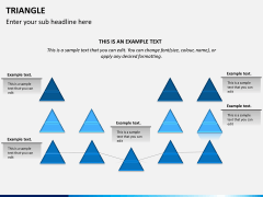 Triangle shape PPT slide 10