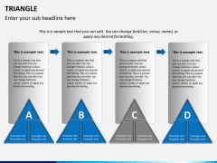 Triangle shape PPT slide 2