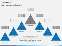 Triangle shape PPT slide 3